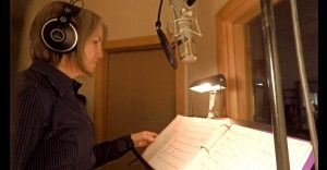 Carla Howell recording music at Wellspring Sound Studio in Acton, Massachusetts